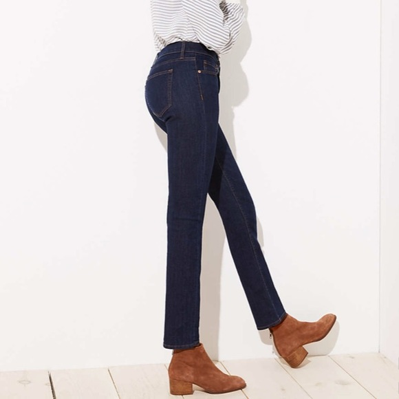 LOFT Denim - modern straight leg denim jean, high rise